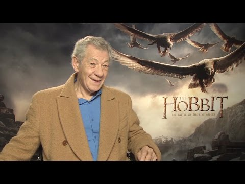 Ian McKellen - The Hobbit: The Battle of the Five Armies Interview HD