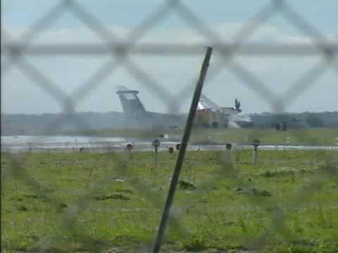 PM today a plaine with 76 passengers crashed. A mechanic fault in the right undercarriage caused the plaine the break and sets on fire. Provided by TV2 | Denmark.