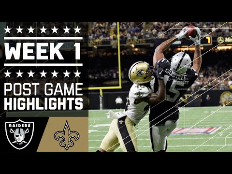 3 Raiders Vs Saints Nfl Week 1 Game Highlights