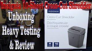 Insignia 10-Sheet Cross-Cut Shredder Unboxing & Heavy Testing & Review (NS-PS10CC-C)