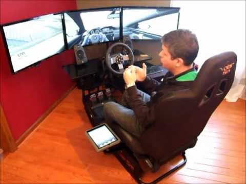 Volair Sim - Racing Cockpit Gaming Seat Chasssis with Logitech G27 Wheel