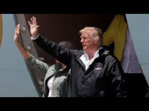 President Trump, first lady arrive in San Juan, Puerto Rico