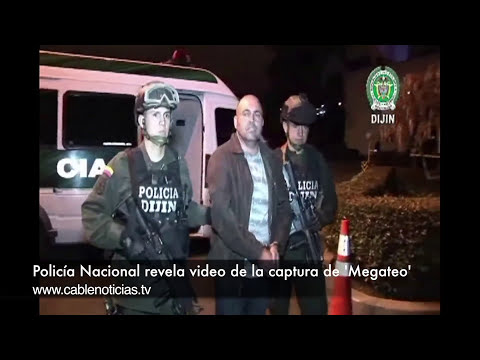 Policía Nacional revela el video de la captura de alias 'Megateo'