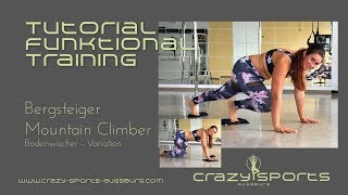 CrazySports Augsburg® - Functional Training Tutorial: Variation Bergsteiger