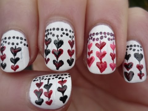 Anti Valentines Day Nail Art Tutorial - Valentin napi köröm