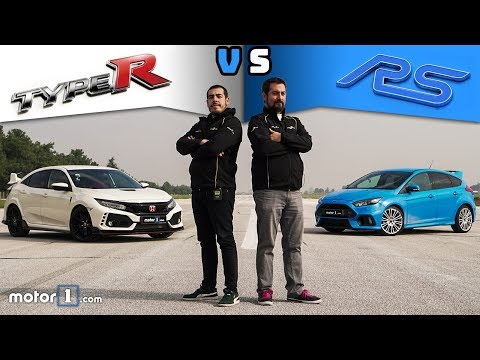 Honda Civic Type R vs Ford Focus RS  Drag & Rolling Yarışı