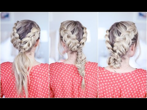3-in-1 Double Dutch Braids| Build-able Hairstyle | Cute Girls Hairstyles - YouTube