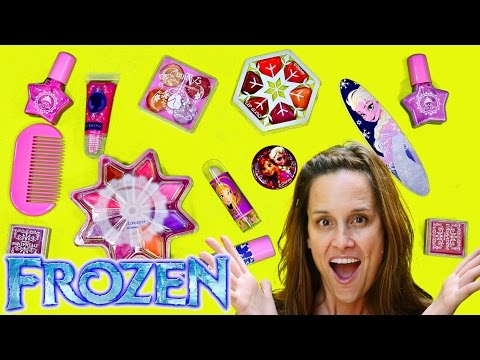 Disney Frozen Makeup Makeover Blindfolded Tutorial by Disney Cars Toy Club DCTC