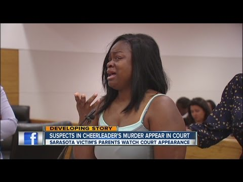 Suspects in cheerleader's murder appear in court