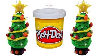 How to Make Xmas Tree with Play-Doh Modeling Clay   Kids Playdoh Christmas Tree