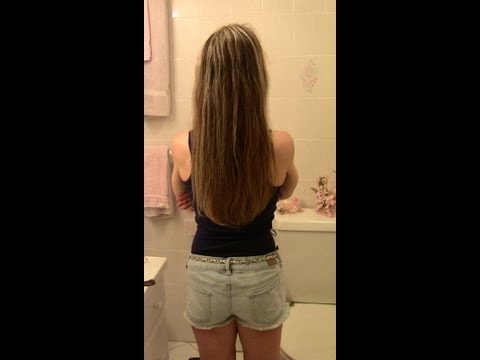 How To STRAIGHTEN YOUR HAIR with NO HEAT -  No Blow Dryer or Flat Iron!!