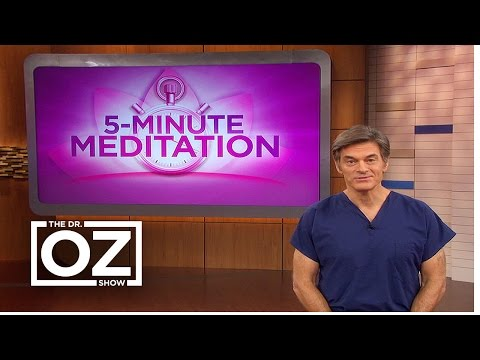 Dr. Oz Shares The Benefits of Meditation
