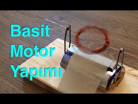 63.video - Basit Elektrik Motoru - 2 , Deney , Simple Electric Motor