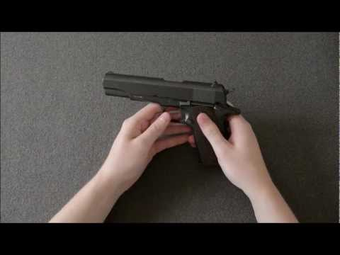 NonEx - Airsoft [Review] Test Video Clip (KWC 1911 full metal CO2 gas blow back pistol)
