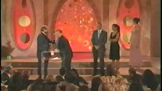 Daniel Day Lewis, Jack Nicholson (Robin Williams) Accepting Critics' Choice Award