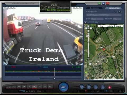 mkroadsystems.com 3rdeye vehicle black box TRUCK DEMO IRELAND & UK.