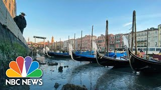 Venice Canals Nearly Empty As Tide Falls Drastically | NBC News