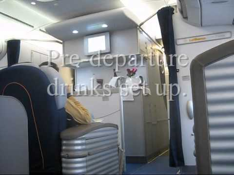 Lufthansa Munich to San Francisco First Class A340 with First Class Lounge LH MUC-SFO