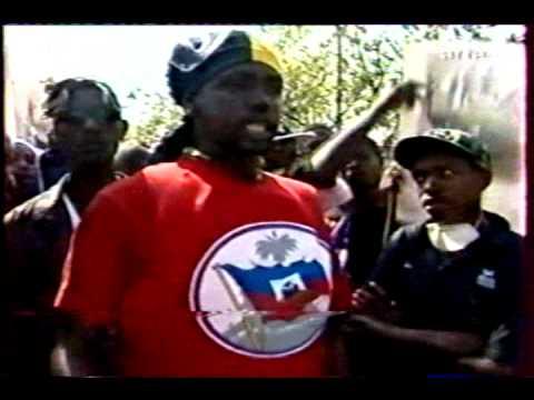 GADE Wilmé chef gang cité soleil haiti manifeste pour le retour de Jean-Bertrand Aristide