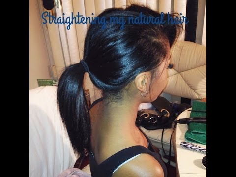 Updated Natural Hair Straightening Video!!!
