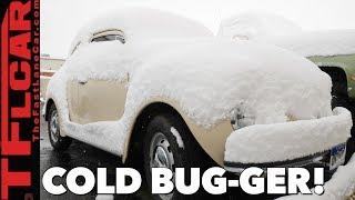VW Beetle Winter Cold Start: Will it Run? Beetle Diaries Ep.10