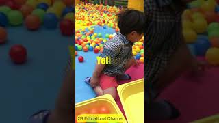 Indoor playground, play time, family fun time for kids, Tree house