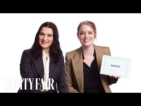 Emma Stone Learns British Slang From Rachel Weisz | Vanity Fair en streaming