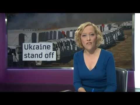 Channel 4 News - Ukraine-Russia conflict escalates (15/8/14)