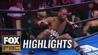Efe Apochi KO's Earl Newman in the 2nd round | HIGHLIGHTS | PBC ON FOX