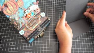 Steampunk Spells Easel Card Box and Tutorial