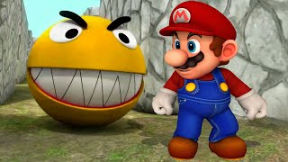 Pacman vs Super Mario Learn Colors Funny Pranks!