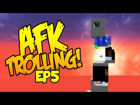 PLAYING JENGA WITH AFK PEOPLE! (Minecraft Trolling AFK Players EP5)