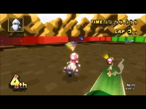 Misc Computer Games - Super Mario Kart - Chocolate Island