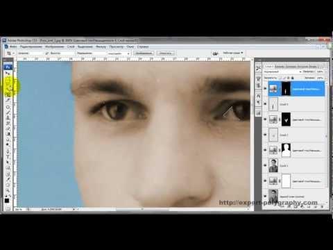 Как сделать цветное из черно белого photoshop