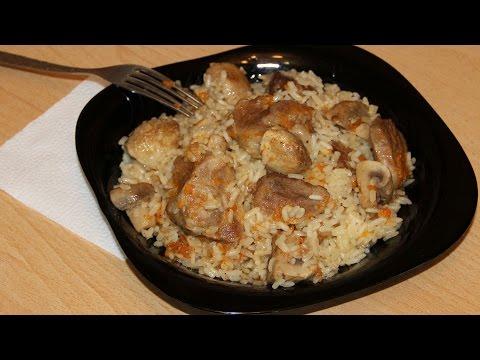 Плов с грибами и мясом! Ароматный, сочный, рассыпчатый! ОТЛИЧНЫЙ РЕЦЕПТ! Pilaf dish