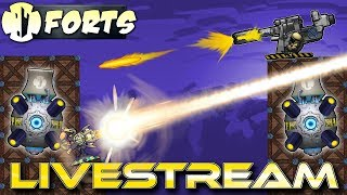 Moonshot Multiplayer! (Forts Multiplayer Gameplay) - Forts RTS - Livestream
