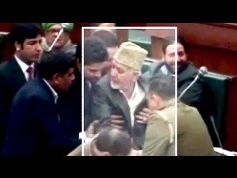 PDP Legislator Syed Bashir Ahmad slaps Jammu and Kashmir assembly marshal