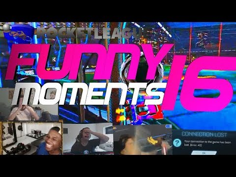 ROCKET LEAGUE FUNNY MOMENTS 16 😆 (FUNNY REACTIONS, FAILS & WINS BY COMMUNITY & PROS!)