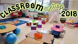 Elementary Classroom Setup Day 3 | Back to School Teacher Vlog | Accent Wall & Reading Tent Setup