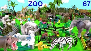 Learn Wild Animals & Zoo Animal Names and Sounds Learn Colors with Animal toys for Children 67 SFR