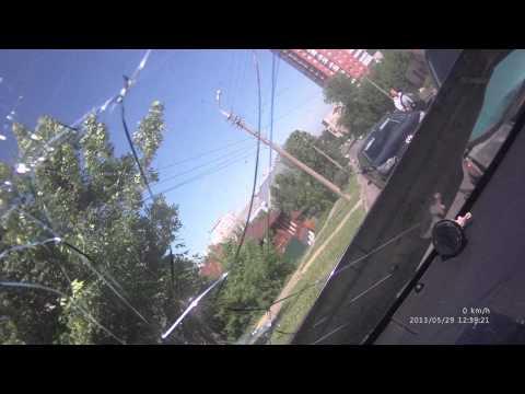 Авария Пенза Кураева-Красная Скорая по встречке без сирены 29.05.13
