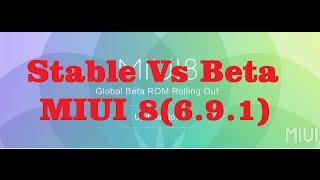 (Hindi) GLOBAL Vs BETA(Explained) & MIUI 8(6.9.1) Update Review