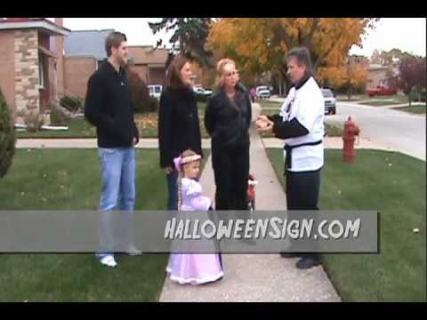 Rapunzel Free Trick Or Treat Signs For Halloween video