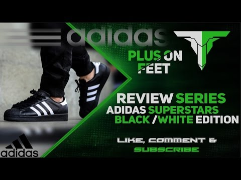 Adidas Superstar Black/White colour way Review +Unboxing+ON FEET!!