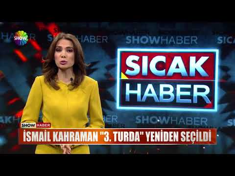 "İsmail Kahraman ""3.Turda"" yeniden seçildi"