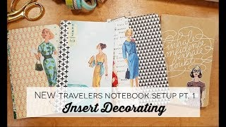 NEW Travelers Notebook Setup Pt. 1: Insert Decorating