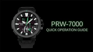 CASIO PRO TREK PRW-7000 Quick Operation Guide