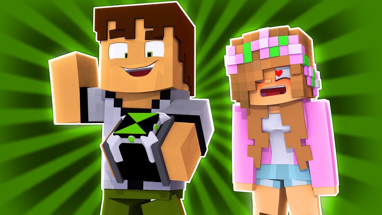 LITTLE KELLY HAS A CRUSH ON BEN10 | Minecraft Ben10 Adventure