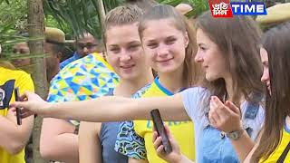 Ukrainian women boxing team takes a tour of Assam State Zoo