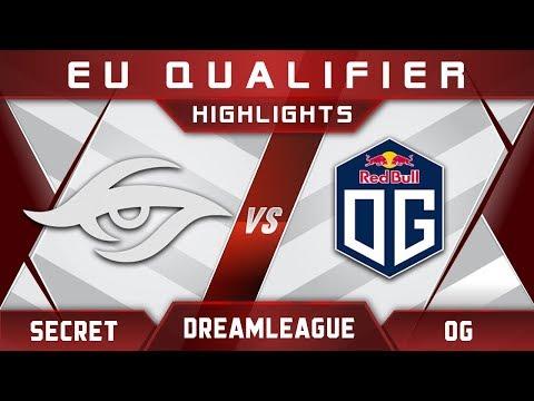 Secret vs OG DreamLeague Major 2017 EU Highlights Dota 2